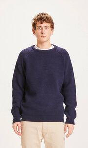 Strickpullover - VALLEY O-neck merino wool rib knit - KnowledgeCotton Apparel
