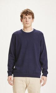 Strickpullover - FORREST O-neck merino wool plain knit - KnowledgeCotton Apparel