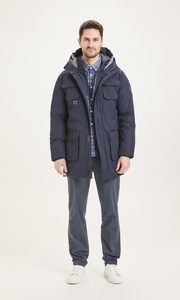 Winterjacke - Arctic Canvas parka jacket - KnowledgeCotton Apparel
