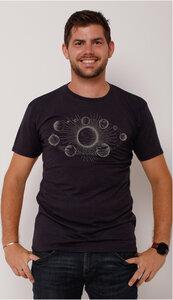 Ecovero®-Herren-T-Shirt Sonnensystem - Peaces.bio - ECOVEROTM - handbedruckt