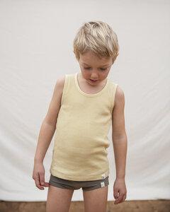 Unterhemd für Kinder / Basic Tanktop aus pflanzengefärbter Biobaumwolle - Matona