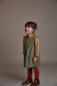 Leinen Schürzenkleid für Kinder - pinafore - Matona
