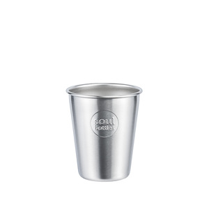 Plastikfreier Trinkbecher aus Edelstahl • soulcups steel plain • 0,3 l und 0,4 l - soulbottles