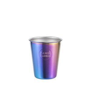 Plastikfreier Trinkbecher aus Edelstahl • soulcups steel Utopia • 0,3 l und 0,4 l - soulbottles