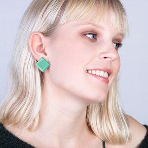 Auffällige Statement Ohrringe aus Glas | PUREFORM - ALEXASCHA