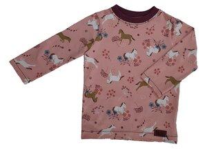 Langarmshirt aus Bio-Jersey Pferdewiese - Omilich
