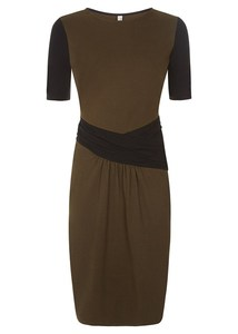 Nikita Dress Khaki - People Tree