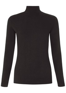 May Turtle Neck Top Black - People Tree
