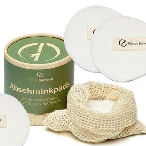 10 waschbare Abschminkpads aus zertifizierter Bio Baumwolle - Planet Bamboo