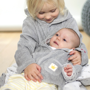 Baby Frotteejacke grau - People Wear Organic