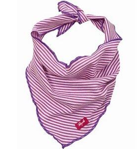 Dreieckstuch pink geringelt - People Wear Organic