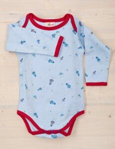 Baby Langarmbody mit Raumschiffen Bio Baumwolle - People Wear Organic