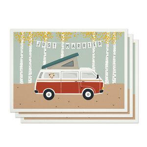 Postkarten 3er-Set Hochzeit aus Recyclingpapier - TELL ME