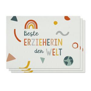 Postkarten 3er-Set Erzieherin aus Recyclingpapier - TELL ME