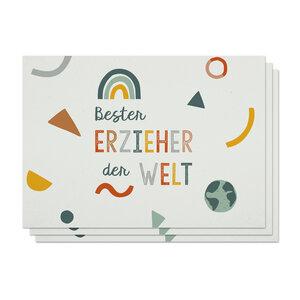 Postkarten 3er-Set Erzieher aus Recyclingpapier - TELL ME