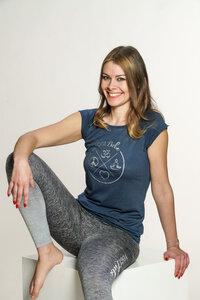 """Yoga Shirt kurzarm - Bio-Baumwolle & Bambusviskose- """"YogiLiebe"""" - YogiLiebe"""