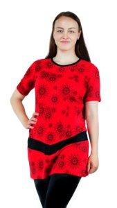 Fairtrade Damen Kurzarmkleid aus Bio-Baumwolle Monika - NEPALAYA