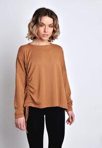 Sweatshirt, Langarmshirt mit Raffung Tencel-Modal - SinWeaver alternative fashion