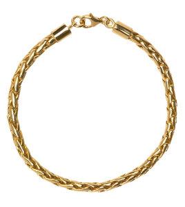 Chunky Armband vergoldet, aus recyceltem Sterlingsilber - macimo