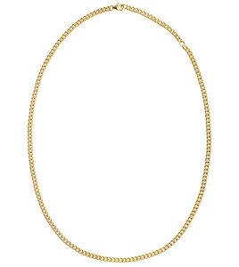 Cuban Halskette, 50 cm vergoldet, aus recyceltem Sterlingsilber - macimo