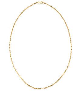Cube Halskette, 50 cm vergoldet, aus recyceltem Sterlingsilber - macimo
