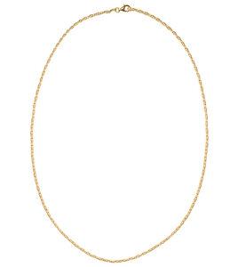 Veda Halskette, 47 cm vergoldet, aus recyceltem Sterlingsilber - macimo