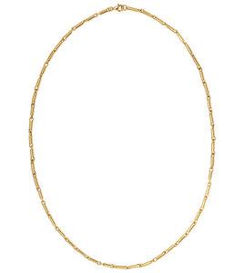 Tube Halskette, 60 cm vergoldet, aus recyceltem Sterlingsilber - macimo