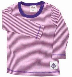 Langarmshirt pink/geringelt - People Wear Organic