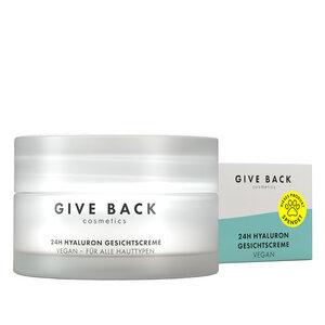 24h Hyaluron Gesichtscreme - Vegan, Anti-Aging, mit Squalan, Sheabutter und Avocado-Öl (Tages- und Nachtcreme) - Tierschutz - GIVE BACK Cosmetics