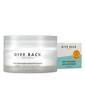 24h Hyaluron Gesichtscreme - Vegan, Anti-Aging, mit Squalan, Sheabutter und Avocado-Öl (Tages- und Nachtcreme) - Soziales - GIVE BACK Cosmetics