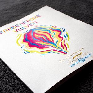 HH Vulva-Malbuch auf Recycle-Papier gedruckt mit veganen Farben - Himal Hemp