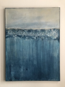 "Kunstwerk ""Spaziergang am Strand"" Gemälde Einzelstück Unikat - ARTlistic"
