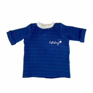 BIO T-Shirt Musselin DEEP NAVY - luftabong