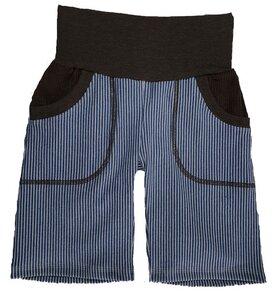 Bermudashorts aus Bio-Stretch-Jeans gestreift - 2 Farben - Omilich
