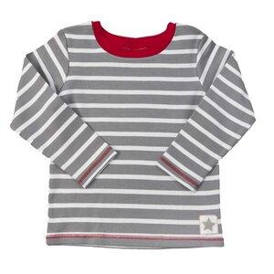 Langarmshirt grau/geringelt - People Wear Organic