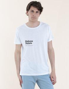 Daniel T-Shirt aus Modal-Buchenfaser & Bio-Baumwolle mit Hakuna Matata Druck - Re-Bello
