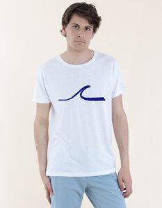 Daniel T-Shirt aus Modal-Buchenfaser & Bio-Baumwolle mit Welle Druck - Re-Bello