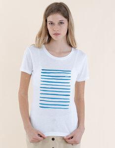 Denise T-Shirt aus Modal Buchenfaser und Bio-Baumwolle mit Streifen Druck - Re-Bello