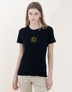 Denise T-Shirt aus Modal Buchenfaser und Bio-Baumwolle mit Sonnen Druck - Re-Bello