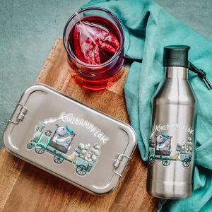 Edelstahl SET Lunchbox & Trinkflasche Kohldapflok - tindobo