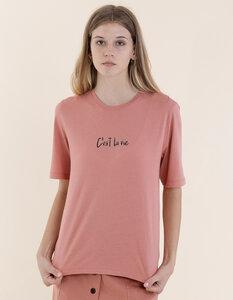 """Mary T-Shirt aus Modal Buchenfaser & Bio-Baumwolle mit """"C'est la vie"""" Druck - Re-Bello"""