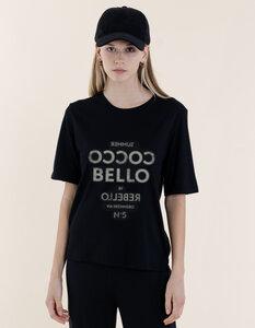 """Mary T-Shirt aus Modal Buchenfaser & Bio-Baumwolle mit """"Cocco Bello"""" Druck - Re-Bello"""