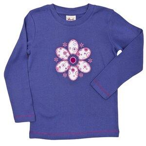 Langarmshirt lila mit Blume - People Wear Organic