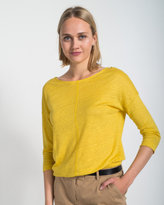 Sommer Leinenshirt aus Leinen-Jersey 'Linen Pure' - Alma & Lovis