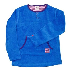 Kinder Frotteepullover blau - People Wear Organic