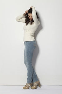 Beauty Jeans * Sky * Shaping Straight Cut - Pearls of Laja