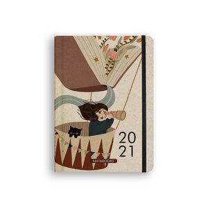 Nachhaltiger Kalender A5 aus Graspapier - Samaya 2021 'Bücherliebe' - Matabooks