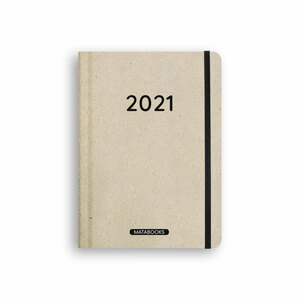 Nachhaltiger Kalender A5 aus Graspapier - Samaya 2021 'Easy' (DE/EN) - Matabooks