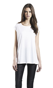 Women's Tencel Blend Sleeveless T-Shirt - Continental Clothing