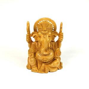 Ganesh Holzfigur - Just Be